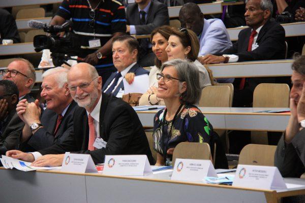 Amb. Valentin Zellweger, Jean-Bernard Münch, Amb. Jean-Frédéric Jauslin, Flavia Schlegel ADG for Natural Sciences