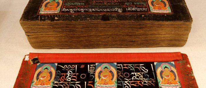 Kanjur written with 9 precious stones